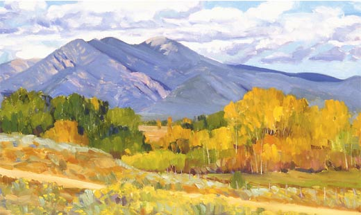 New Mexico Art Paintings Desert Village New Mexico